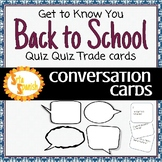 Back to School Conversation Cards SAMPLE Set