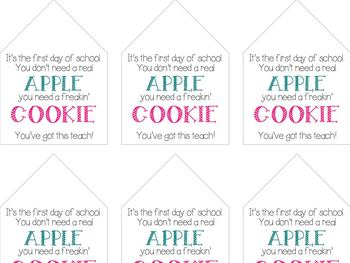 Back to School Cookie Lables