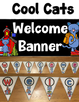 Back to School Cool Cats Welcome Banner