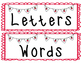 Back to School Cool Letters vs. Words Sort