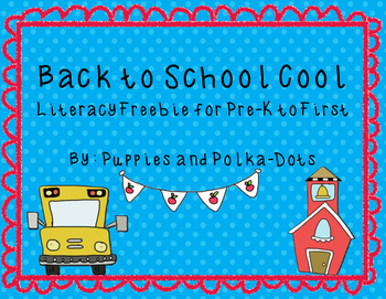 Back to School Cool Literacy Freebie