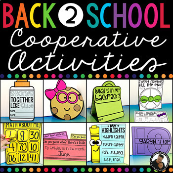 Back to School Cooperative Learning and All About Me Crafts and Games