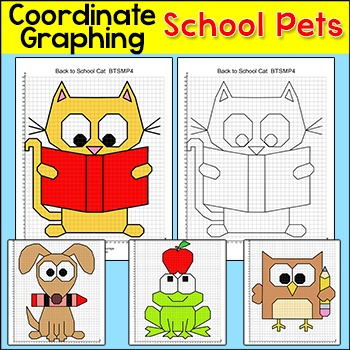 School Pets Coordinate Graphing Ordered Pairs: Back to School Activities