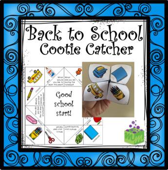Back to School Cootie Catcher