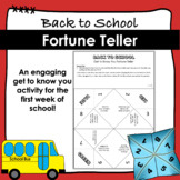 """Back to School Cootie Catcher Fortune Teller """"Get to Know"""