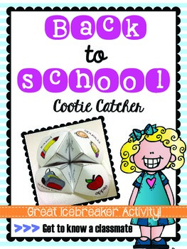 Back to School Cootie Catcher Icebreaker (Get to Know a Cl