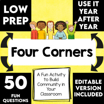 Back to School | Corners Cooperative Learning Activity