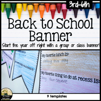 Back to School Counseling Activity Banner