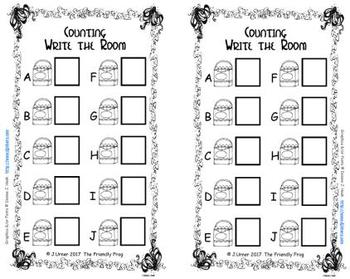 Back to School Count, Add & Subtract Bundle with 10 & 20 Frames {Subitizing}