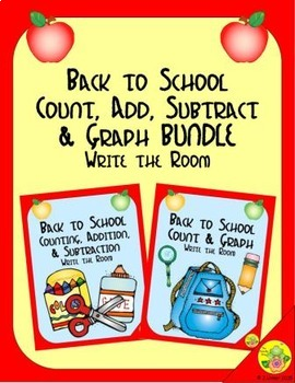 Back to School Count, Add, Subtract & Graph: Write the Roo