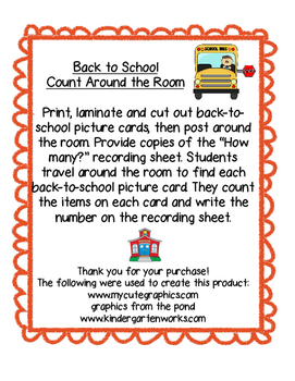 Back to School Count Around the Room