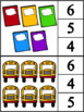 Back to School Count & Clip Cards (Numbers 1-10)