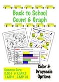 Back to School Count & Graph  - Common Core Measurement & Data