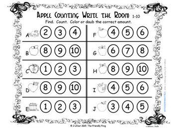 Back to School Count & Graph: Write the Room