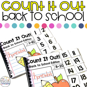 Back to School Count It Out Adapted Book