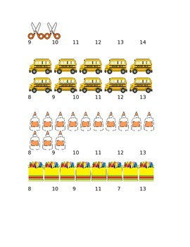 Back to School Count and Circle Counting Worksheet