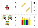 Back to School Count and Clip Cards 1-20