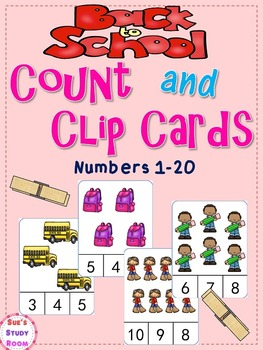 Back to School Count and Clip Cards