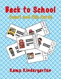 Back to School Ten Frames Count and Clip Cards Quantities to 20
