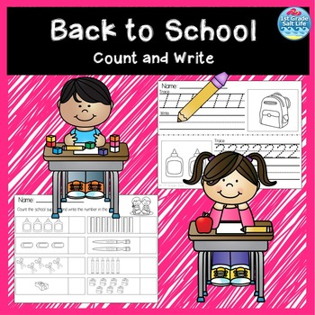 Back to School Count and Write Freebie