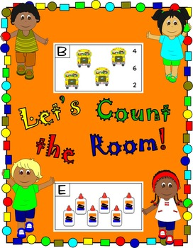 Back to School * Count the Room * No Prep Printables