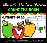 Back to School Count the Room Numbers to 10  with Distance