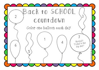 Back to School Countdown *FREEBIE*