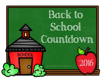 Back to School Countdown FREEBIE