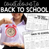 Back to School Countdown to the First Day of School