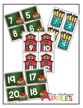 Back-to-School Counting 1-20