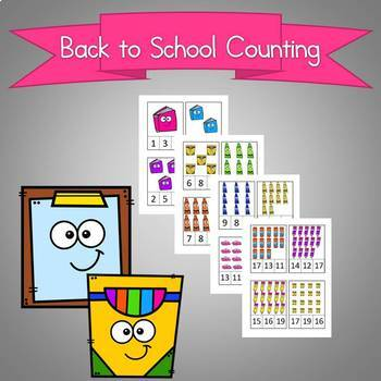 Back to School Counting Numbers 1-30