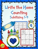 Back to School Counting 1-9 (Subitizing) Write the Home |