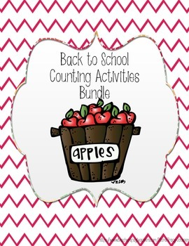 Back to School Counting Activities Bundle