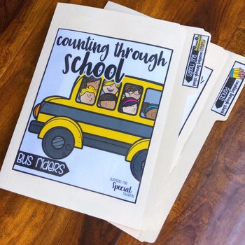 Back to School Counting Activities - File Folders for Numbers 1-10