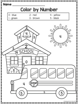 Back to School Counting Activities Numbers 0-10