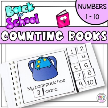 Back to School Counting Adapted Books for Special Education
