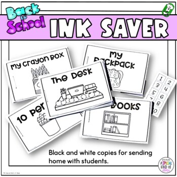 Adapted Counting Books - Back to School