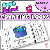 Counting Books for numbers 1 to 10 - Back to School
