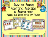 Back to School Counting, Addition & Subtraction with Ten Frames {Subitizing}