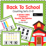 Back to School Counting BOOM CARDS Numbers to 10