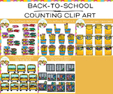 Back to School Counting Clip Art Bundle