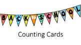Back to School Counting Cards