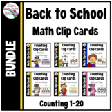Back to School Counting Clip Card Growing Bundle