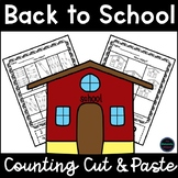Back to School Counting to 10 Cut and Paste