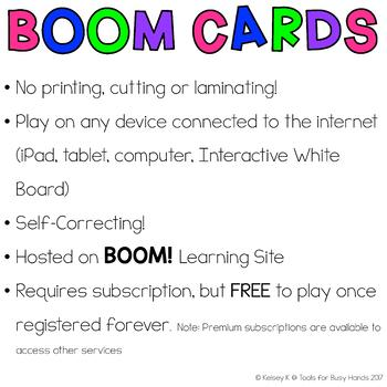 Counting 1-10 Interactive Digital Task Cards (Boom! Deck): Back to School