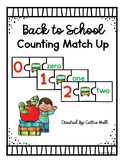 Back to School Counting Match Up
