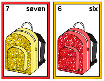 Back to School Counting Mats 0-20