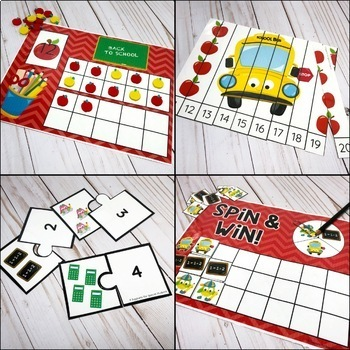 Back to School Counting Pack - Hands On Activities for Numbers 1-20