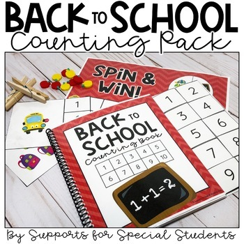 Back to School Counting Pack - Activities for Numbers 1-20