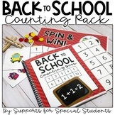 Back to School Counting Pack - Hands On Activities for Num